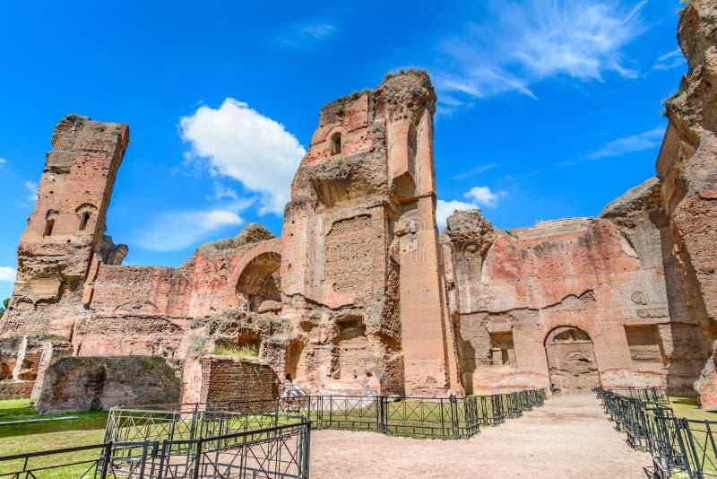 Ot di Terme di Caracalla i bagni di Caracalla a Roma, Italia fotografia stock libera da diritti