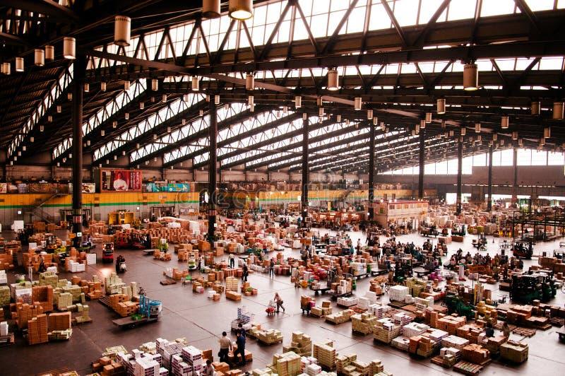 Ota Wholesale Market, störst frukt, grönsaken och blomman marknadsför arkivfoton