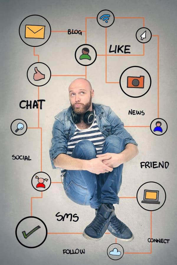 Otaczający komunikacją obraz stock