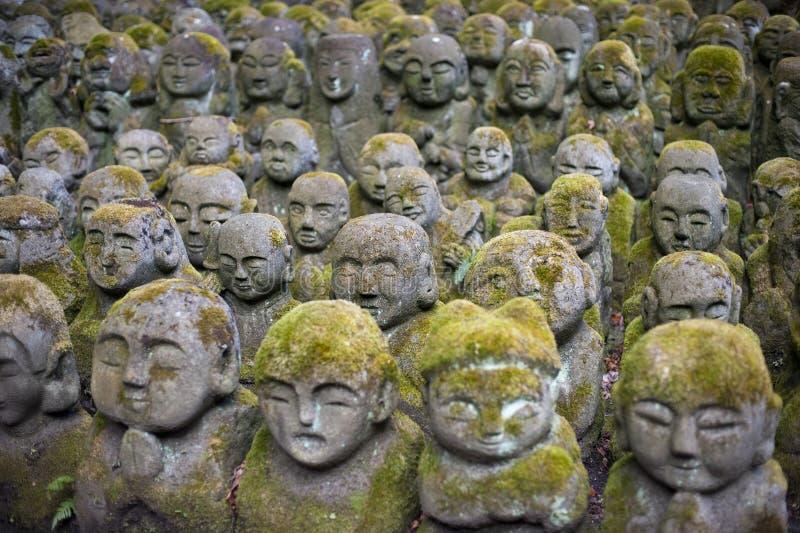 Otagi Nenbutsu-ji Rakan雕象 库存照片