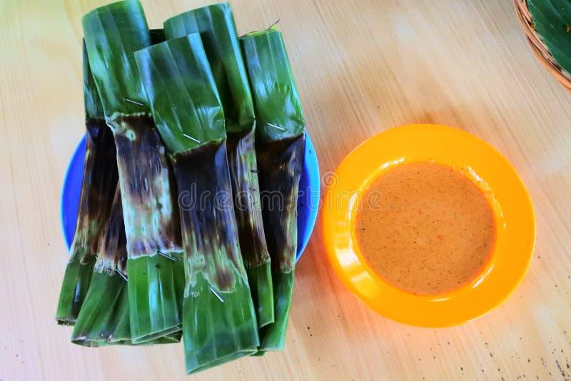 Otak Otak, una comida indonesia imagenes de archivo