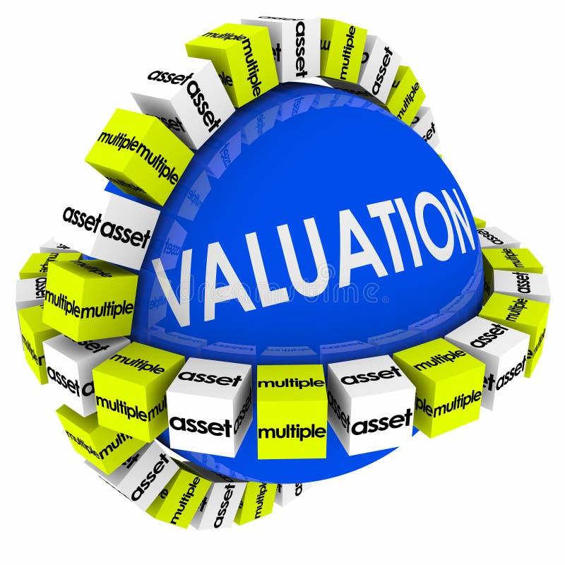 Otaksowanie wartości wielokrotność dochodów formuły Kalkulacyjna sfera royalty ilustracja