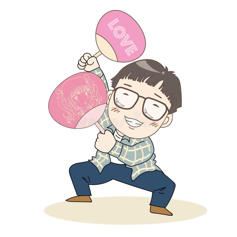 Otaku, nerd εικόνα - ιαπωνικός πολιτισμός ελεύθερη απεικόνιση δικαιώματος