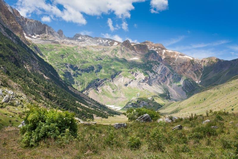 Otal-Tal Pyrenäen Spanien lizenzfreie stockfotografie