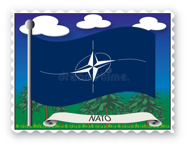 OTAN del sello stock de ilustración