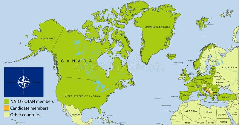 OTAN - Mapa de la organización de OTAN ilustración del vector