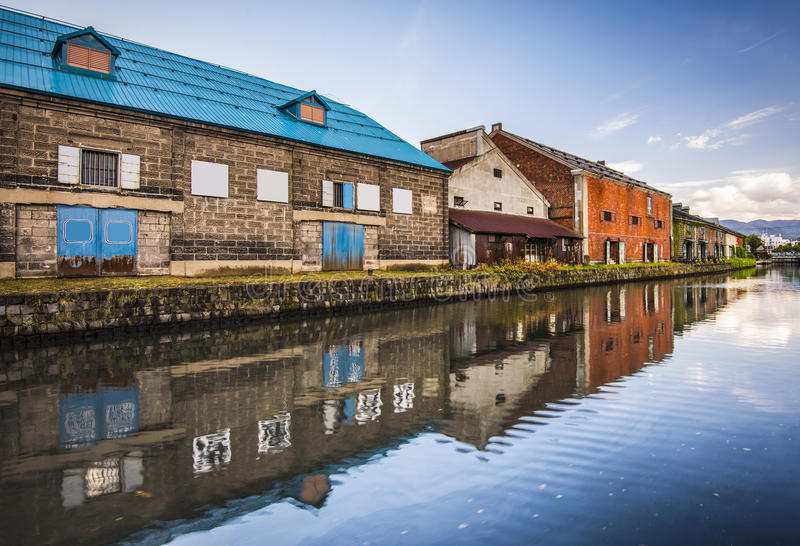 Otaru Canals. Canals of Otaru, Japan royalty free stock image