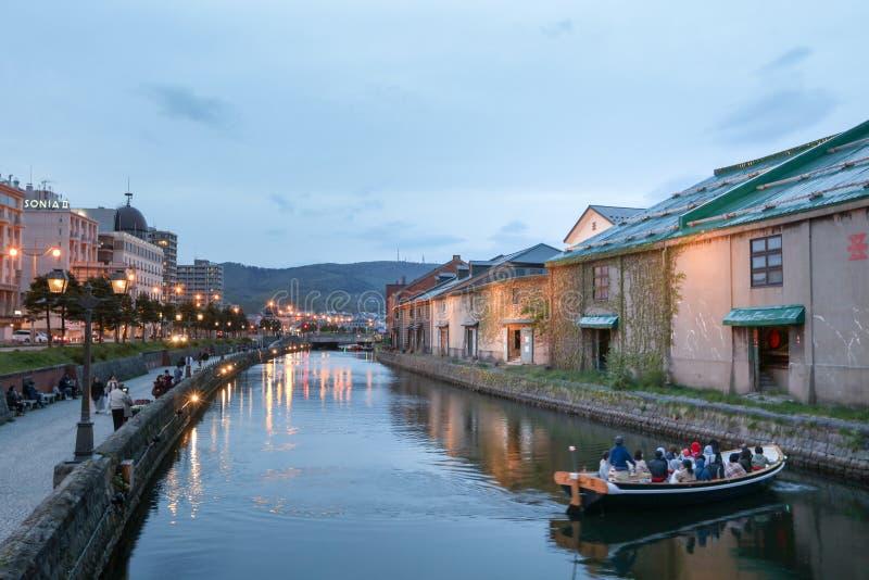 Otaru, Hokkaido, Japon aux entrepôts historiques image libre de droits