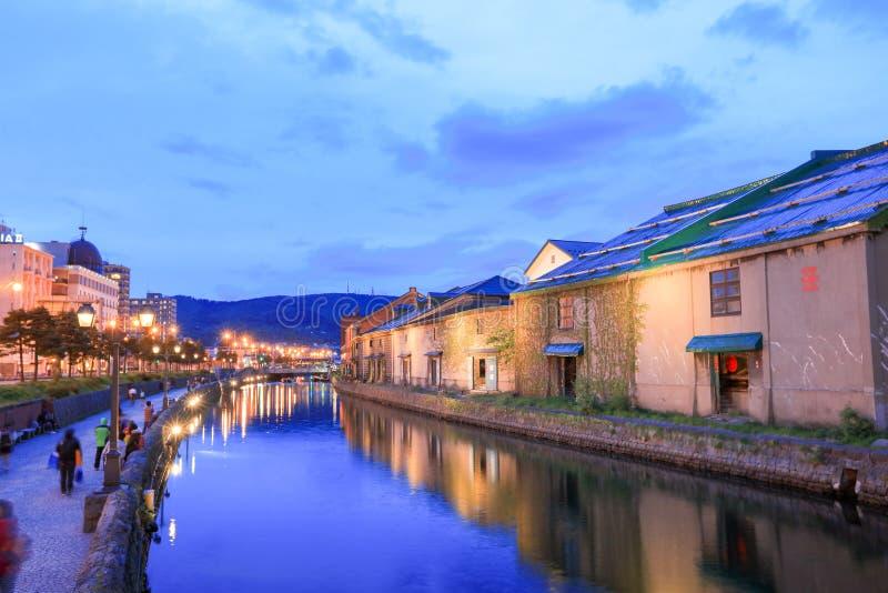Otaru, Hokkaido, Japon aux entrepôts historiques photographie stock libre de droits