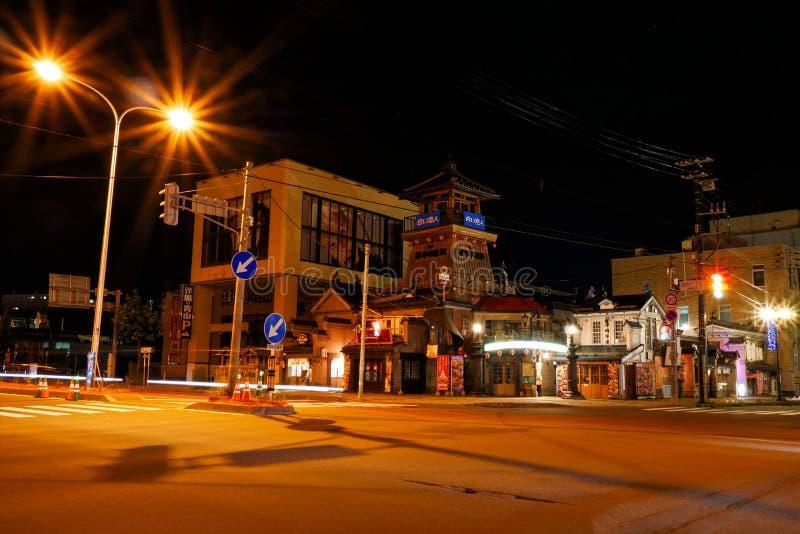 Otaru, Japon - 26 juillet 2017 : Destination de touristes populaire de centre de la ville d'Otaru la nuit photos stock