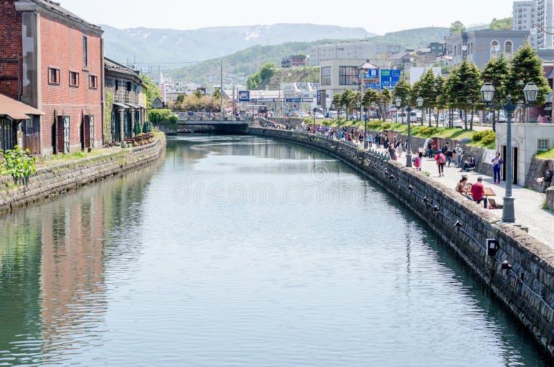 OTARU, JAPON - 18 mai 2015 : Canal d'Otaru photographie stock