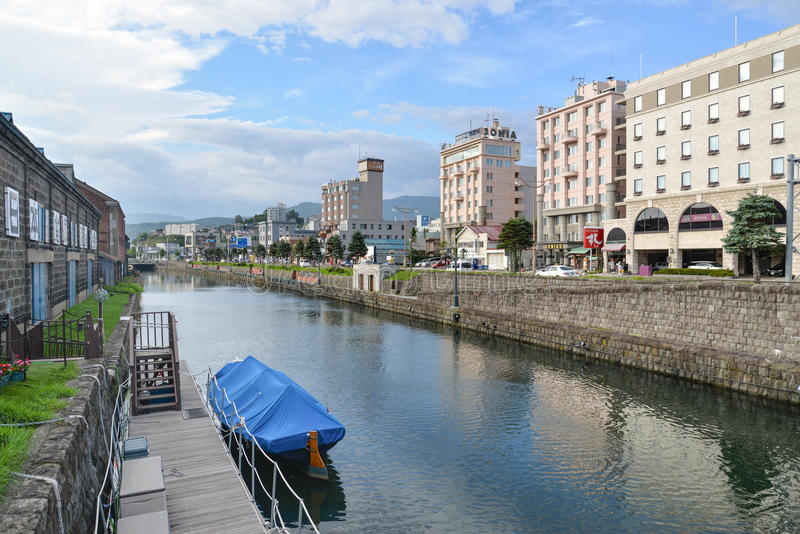 Otaru-Kanal, Hokkaido, Japan lizenzfreies stockfoto