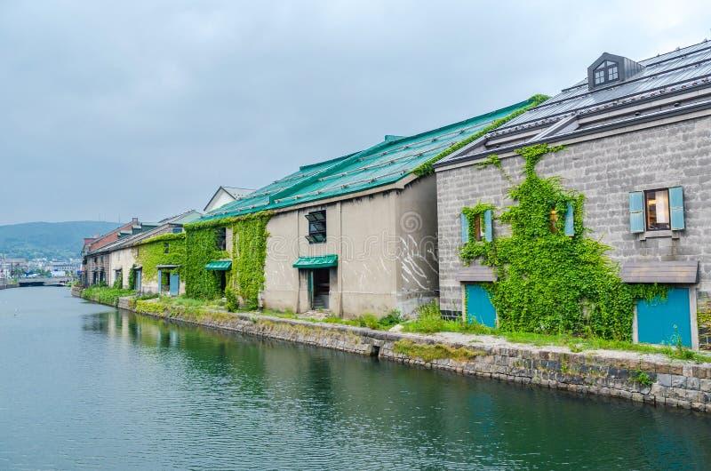 Otaru-Kanal im Sommer bei Hokkaido Japan lizenzfreies stockbild