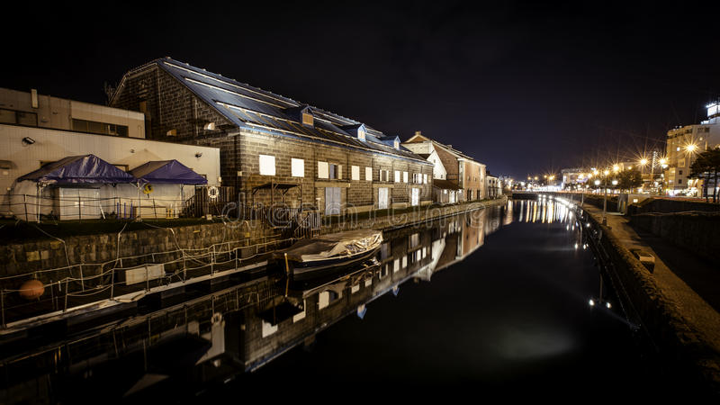 Otaru kanal, Japan royaltyfria foton