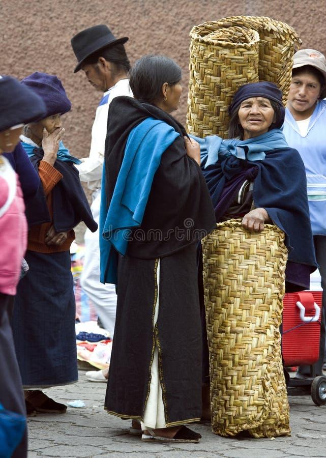 Otavalo Market - Ecuador stock images