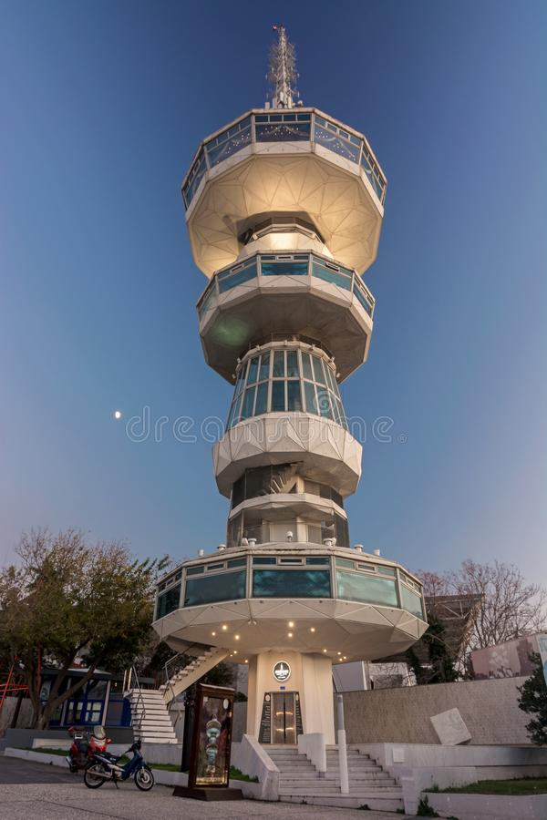 OTE Tower Thessaloniki royalty free stock photos