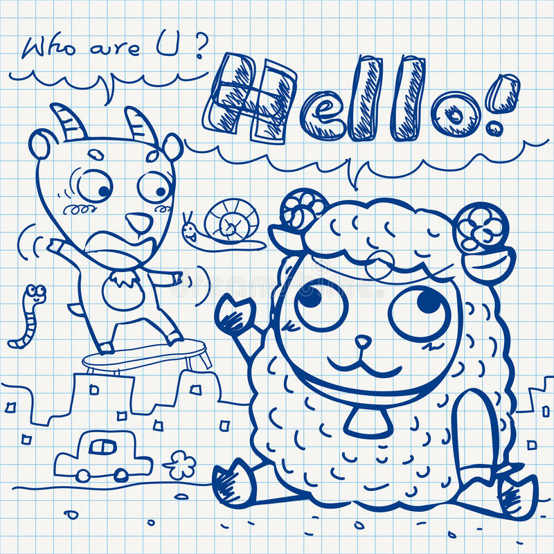 Download Otebook Paper Doodles Stock Photography - Image: 32040432