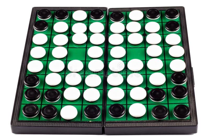 Otello Board White Background Isolated immagine stock libera da diritti