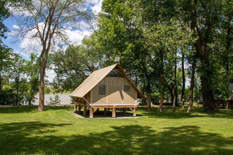 OTENTik Campingowego namiotu jednostka przy Ours Kanałowy Krajowy Historycznego miejsca park fotografia stock