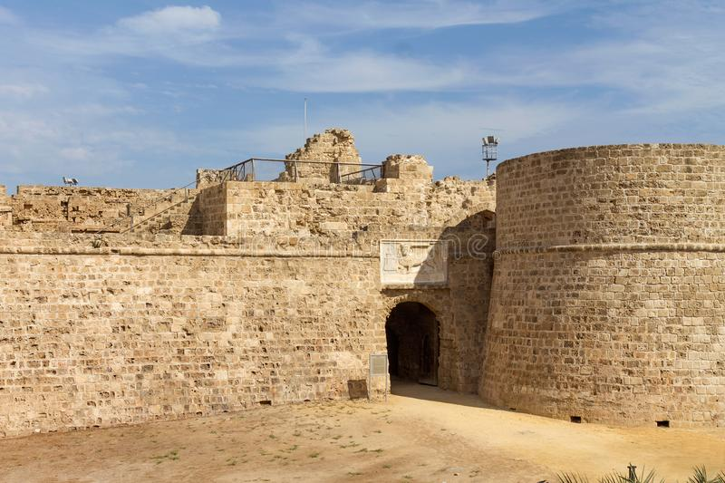 Othello Castle in harbor of Famagusta, Northern Cyprus stock photography