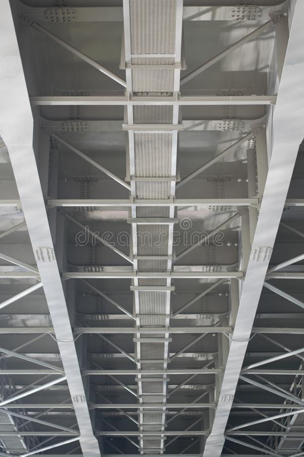 The other side of bridge. The other side of bridge, metal, gray royalty free stock photos