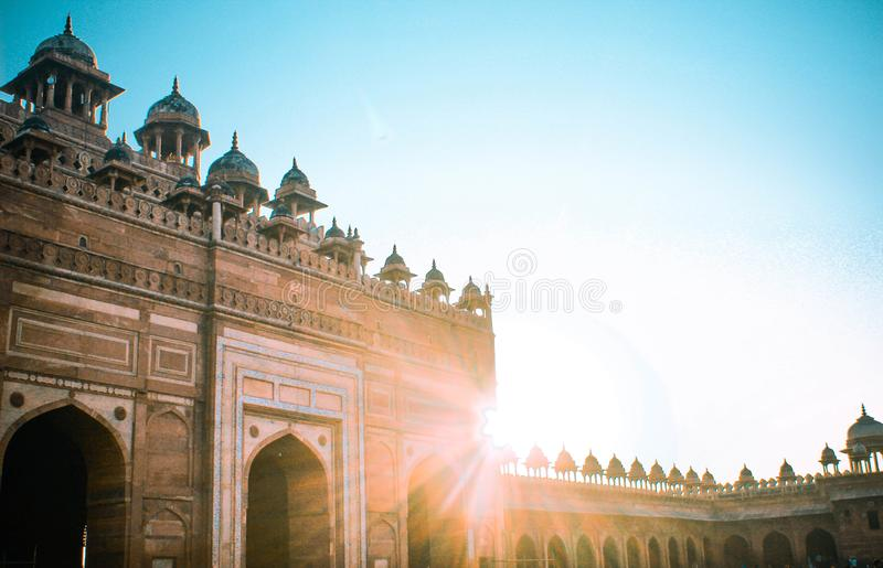 The other side of BULAND DARWAZA royalty free stock image