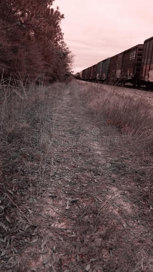 On the other side of the tracks royalty free stock photo