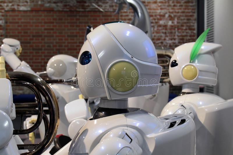 Other than cars, Toyota also develop humanoid robots, who even c. An play music! Taken in Nagoya, Japan - February 2018 royalty free stock photo