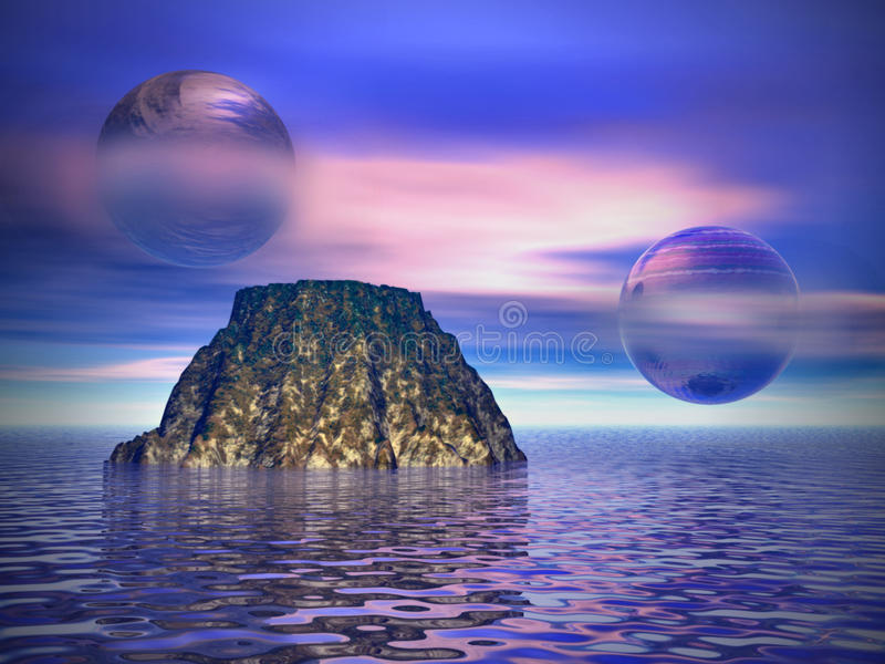 Download Other worlds stock illustration. Image of purple, ripple - 18054410
