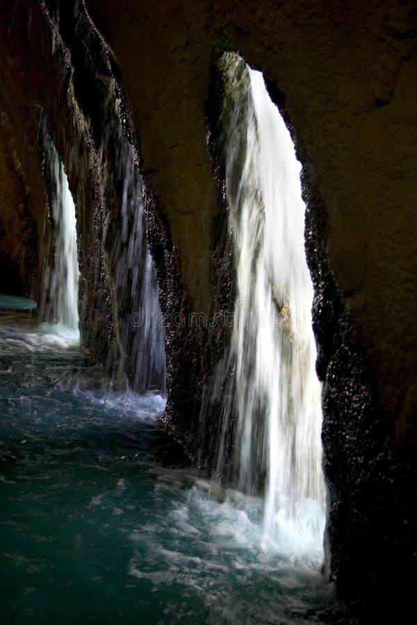 Otherside van de waterval royalty-vrije stock foto
