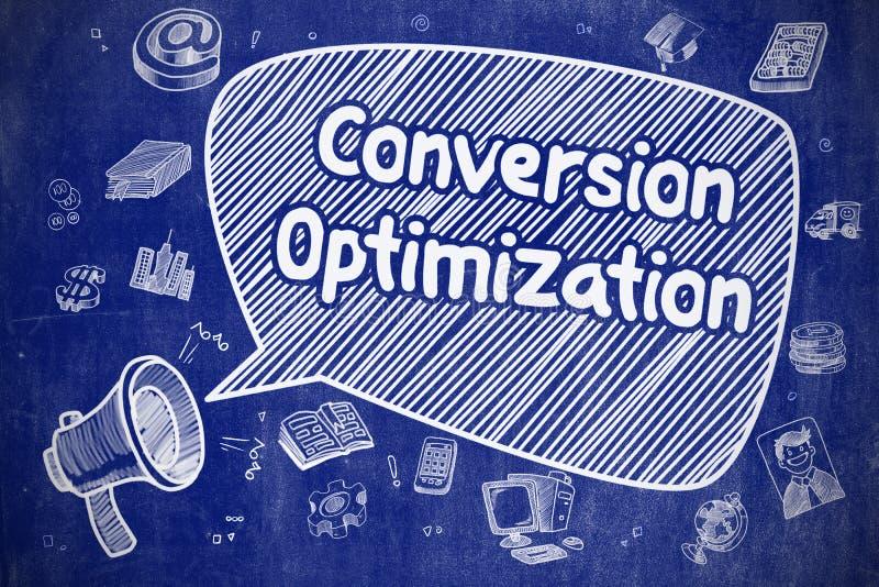 Otimização da conversão - conceito do negócio ilustração do vetor