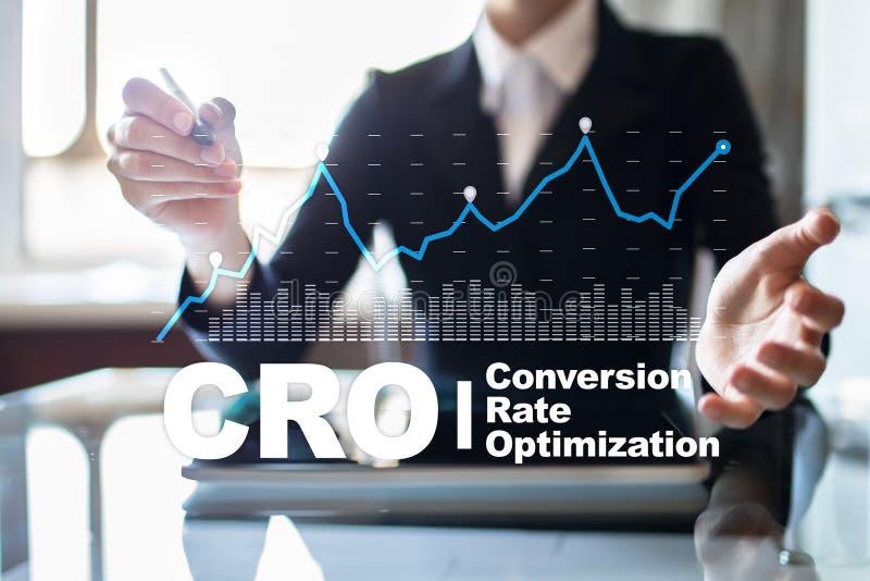 Otimização da taxa de conversão, conceito da CTOC e geração da ligação fotografia de stock royalty free