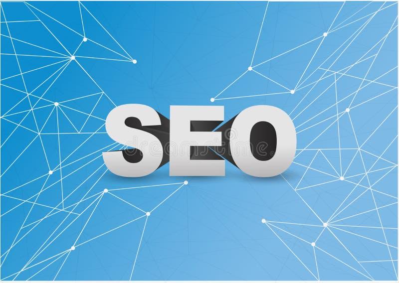 otimização do Search Engine sobre uma rede ilustração stock