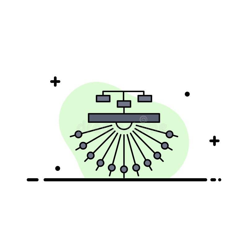 otimização, local, local, estrutura, vetor liso do ícone da cor da Web ilustração stock