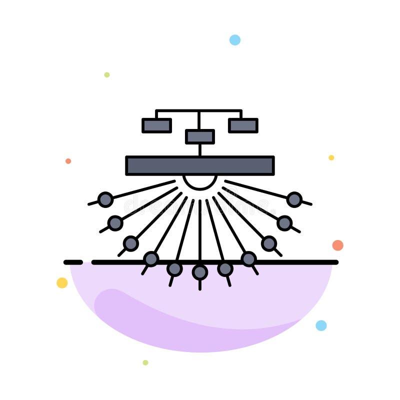 otimização, local, local, estrutura, vetor liso do ícone da cor da Web ilustração do vetor