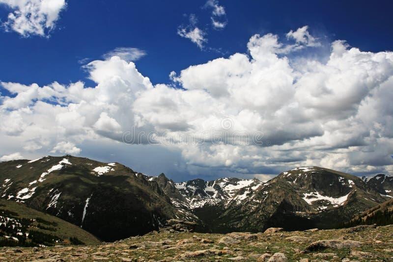 Otis Peak against blue sky in Rocky Mountain. National Park, Colorado, USA royalty free stock image