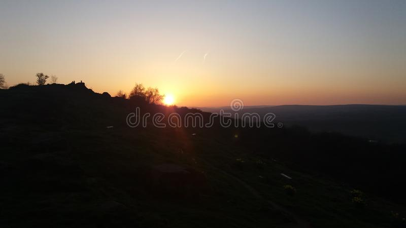 Otley Chevin Sunset stock images