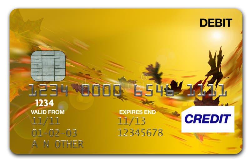 Otoño/caída de la tarjeta Visa fotos de archivo
