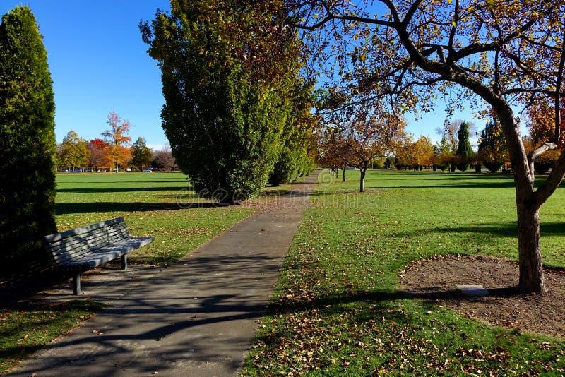 Otoño en Boise Park - Idaho imagen de archivo