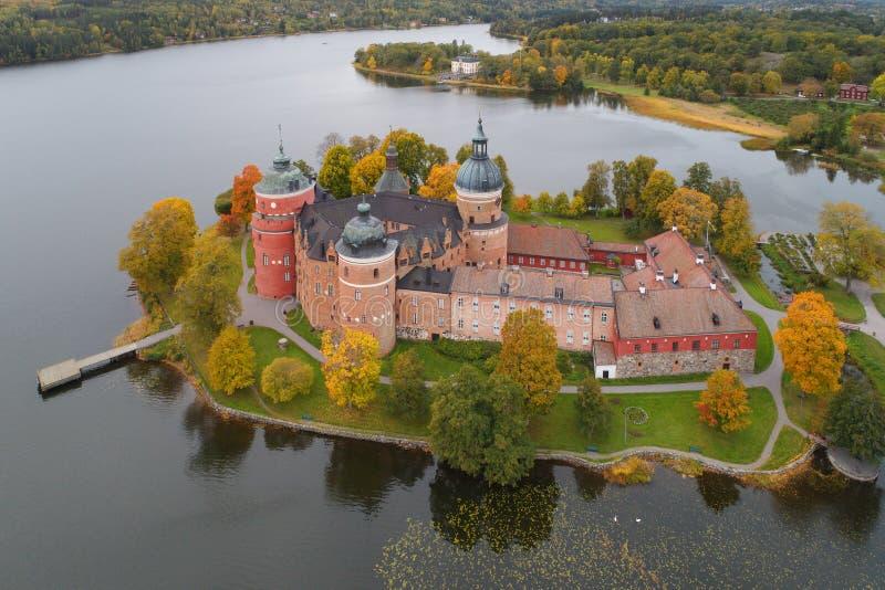 Otoño en el castillo de Gripsholm imágenes de archivo libres de regalías