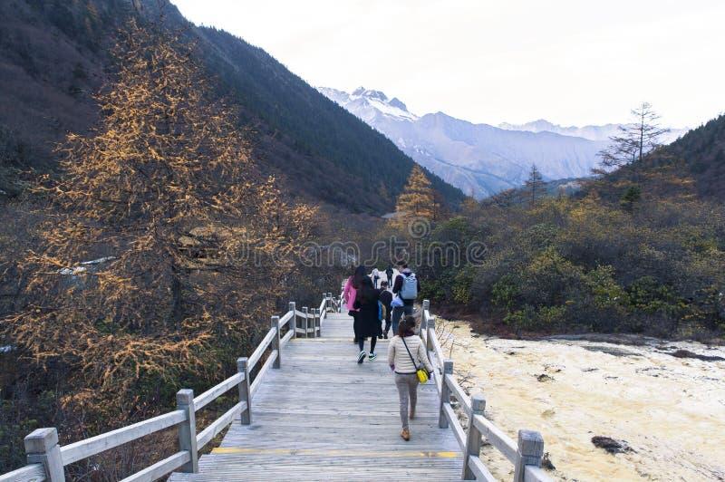 Otoño en el jiuzhaigou, China imagen de archivo