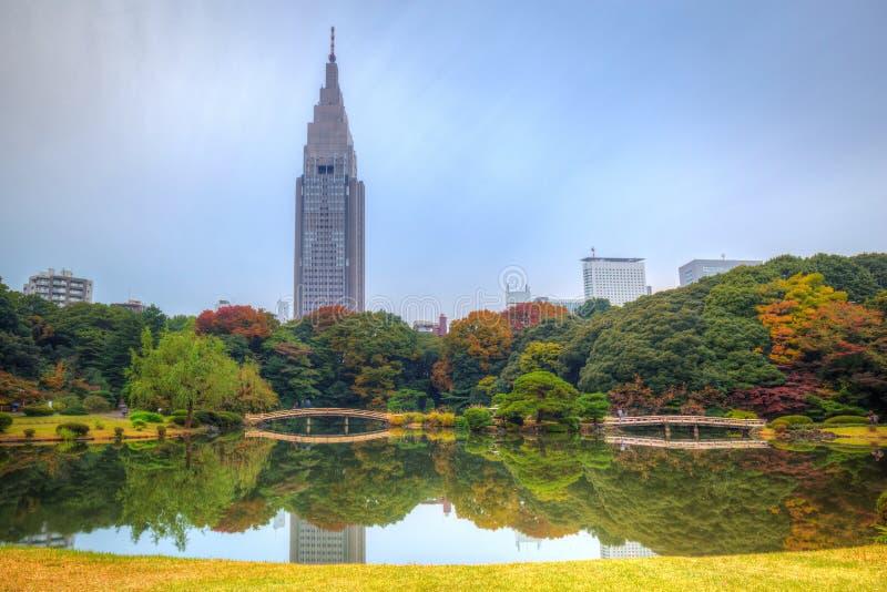 Otoño en el parque de Shinjuku imágenes de archivo libres de regalías