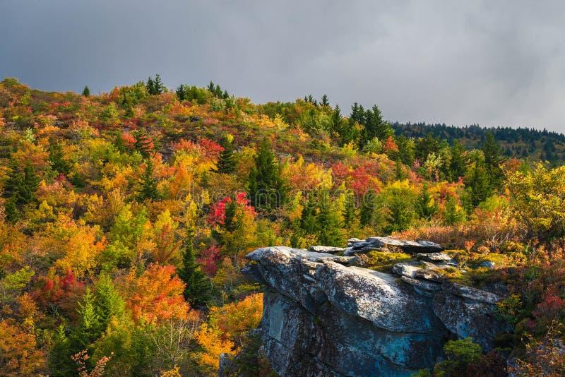 Otoño en el Ridge azul fotografía de archivo libre de regalías