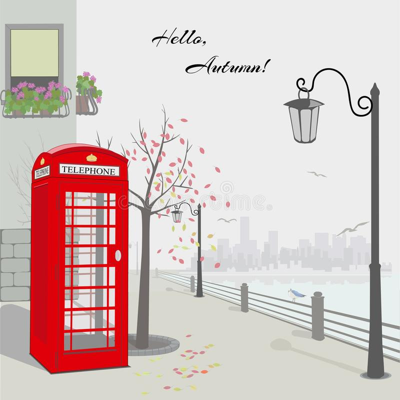 Otoño en Londres ilustración del vector