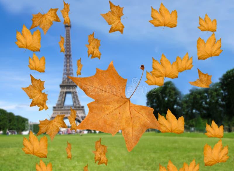 Otoño en París fotografía de archivo