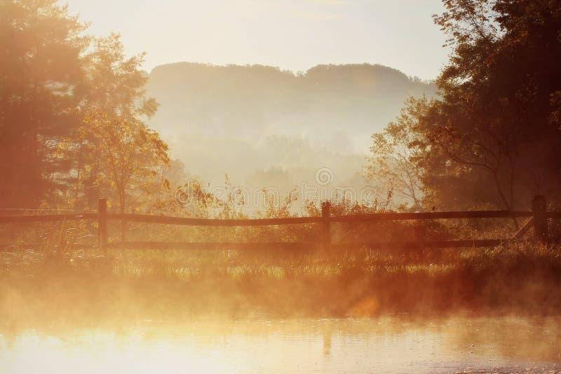 Otoño hermoso de la mañana en Ohio imagen de archivo libre de regalías