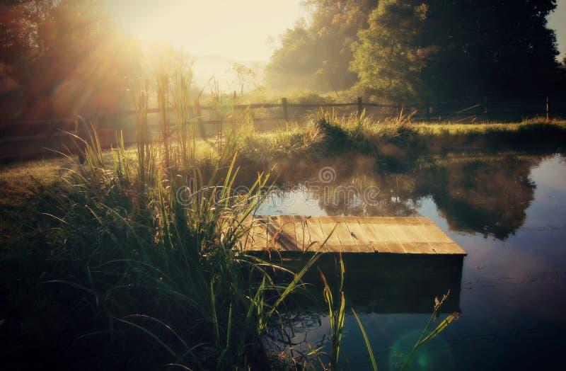 Otoño hermoso de la mañana en Ohio fotografía de archivo libre de regalías