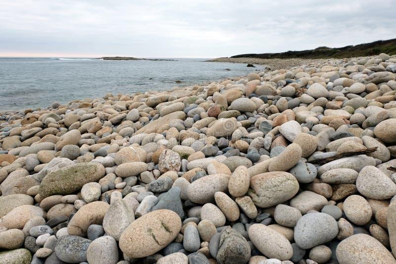 Otoczak pla?a w Brittany obraz royalty free