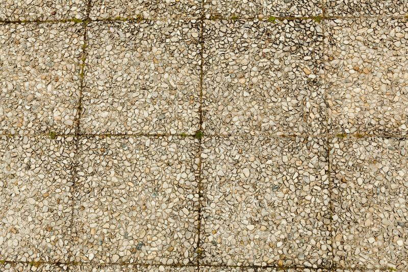 Otoczak podłogowej płytki kamienny bezszwowy tło Cement mieszająca żwiru otoczaka kamienia podłoga tekstura Moczy wokoło otoczaka obrazy royalty free