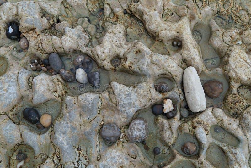 Otoczaki na piwo plaży zdjęcia stock